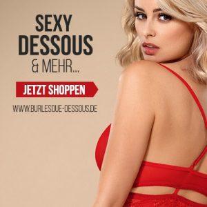 Sexy Unterwäsche zum Valentinstag von Burlesque Dessous