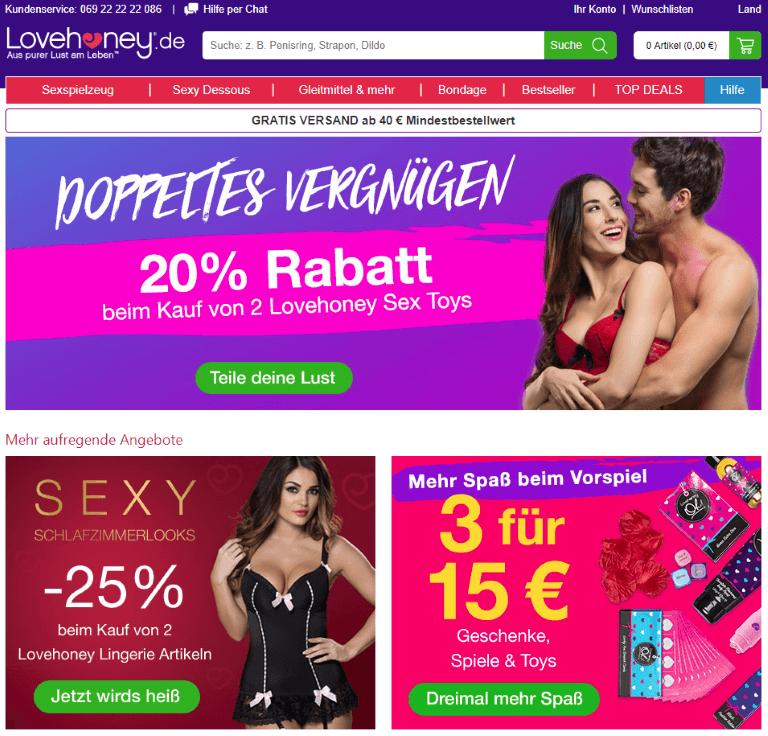 Lovehoney Webseite