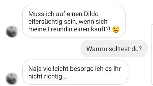 Instagram-Frage: Muss ich auf den Dildo eifersüchtig sein?